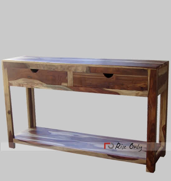 Wooden Console Table With Drawers