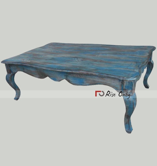 Wooden Painted Coffee Cafe Table with Opium Legs