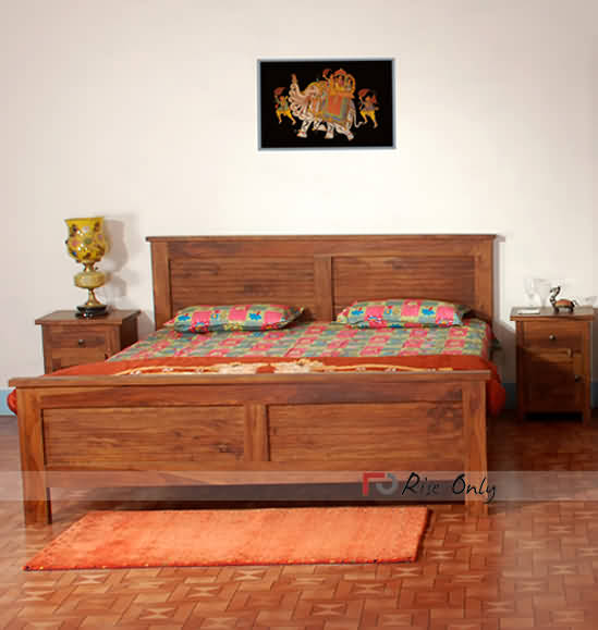 Wooden Queen Size Double Bed Designs Online