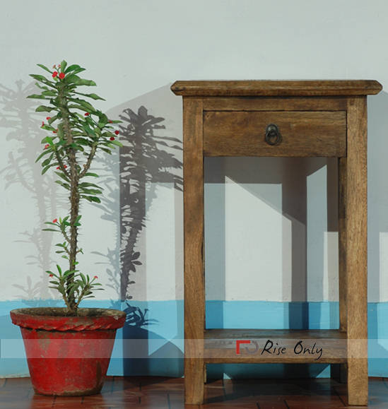 Rise Only Wooden Side Table Buy Online India