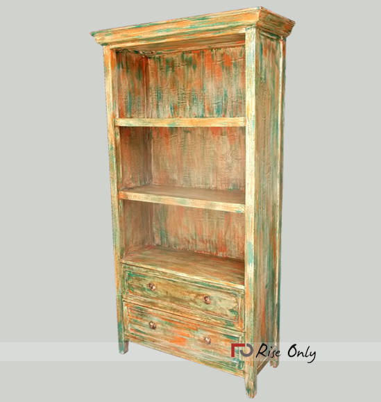 Wooden Solid MDF Painted Bookshelf Bookcase