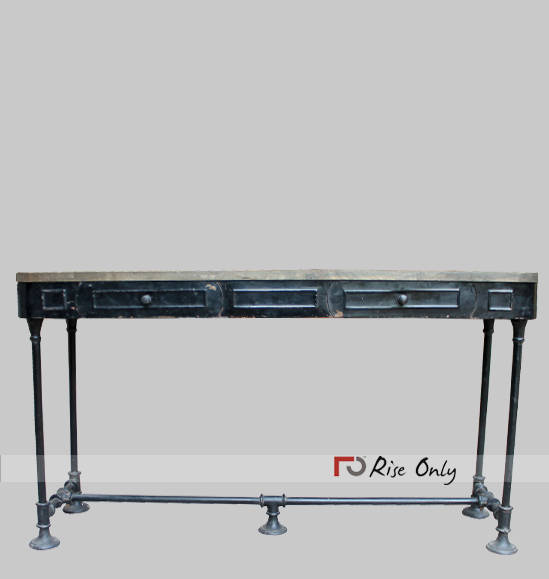 Wrought Iron Metal Console Table UK